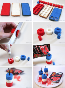 how to make firecracker mini-cakes